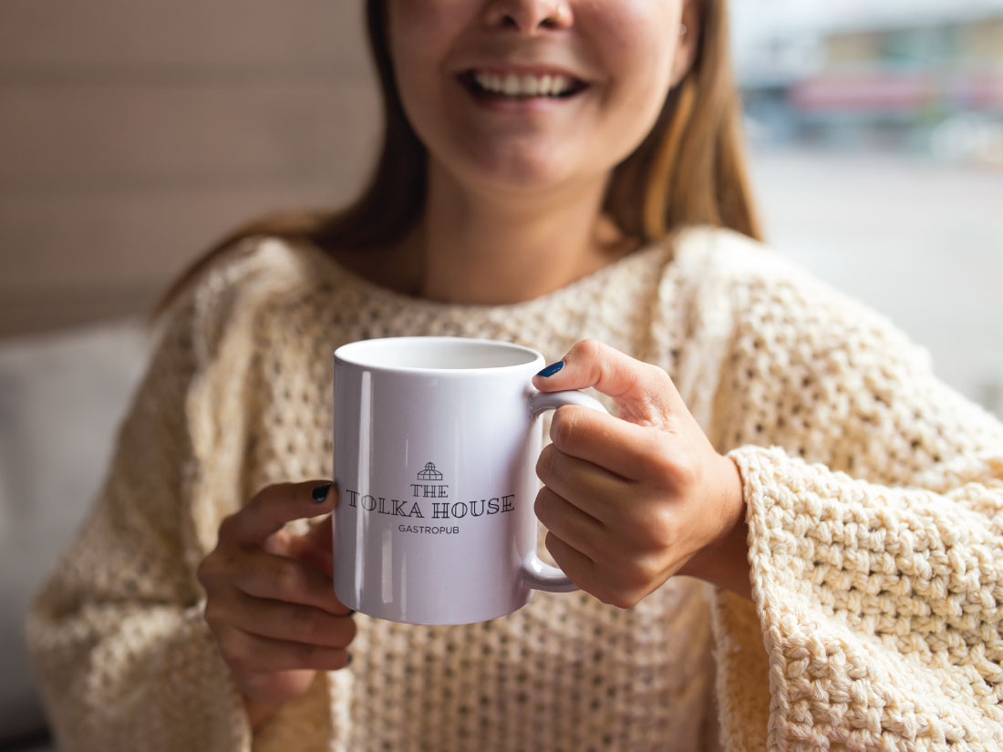 Tolka House Logo Design and Branding Cup